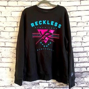 Young & Reckless Black Crew Neck Sweater